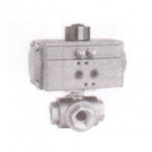 "3Way Ball valve L/T Port Techno ACT52 3WB 3/4"" Thread Size"